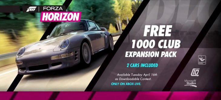 Forza Horizon – 1000 Club Expansion Pack Trailer