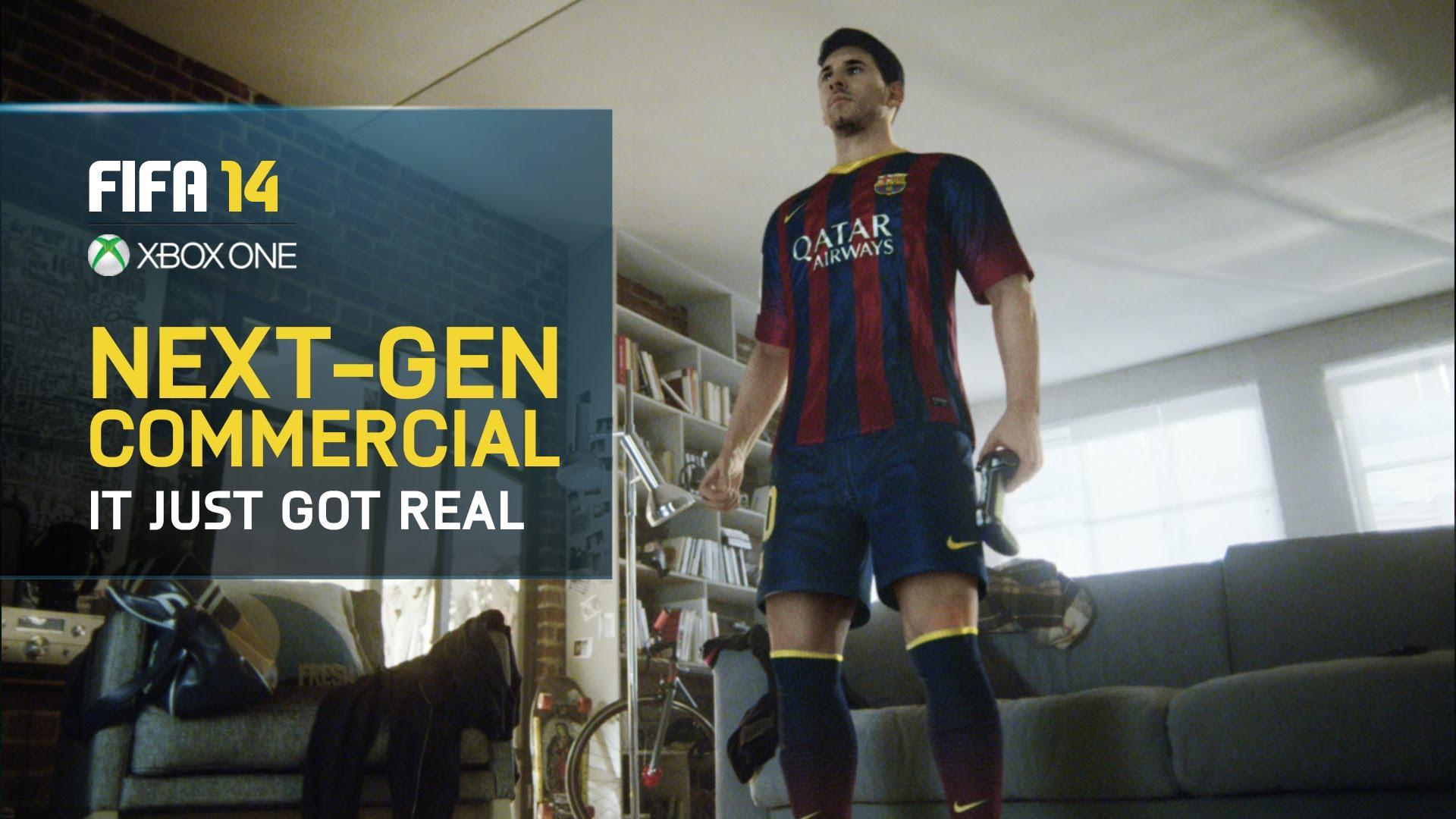 Lionel Messi în noul spot publicitar pentru FIFA 14