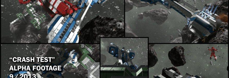 Space Engineers - Crash Test Alpha Footage