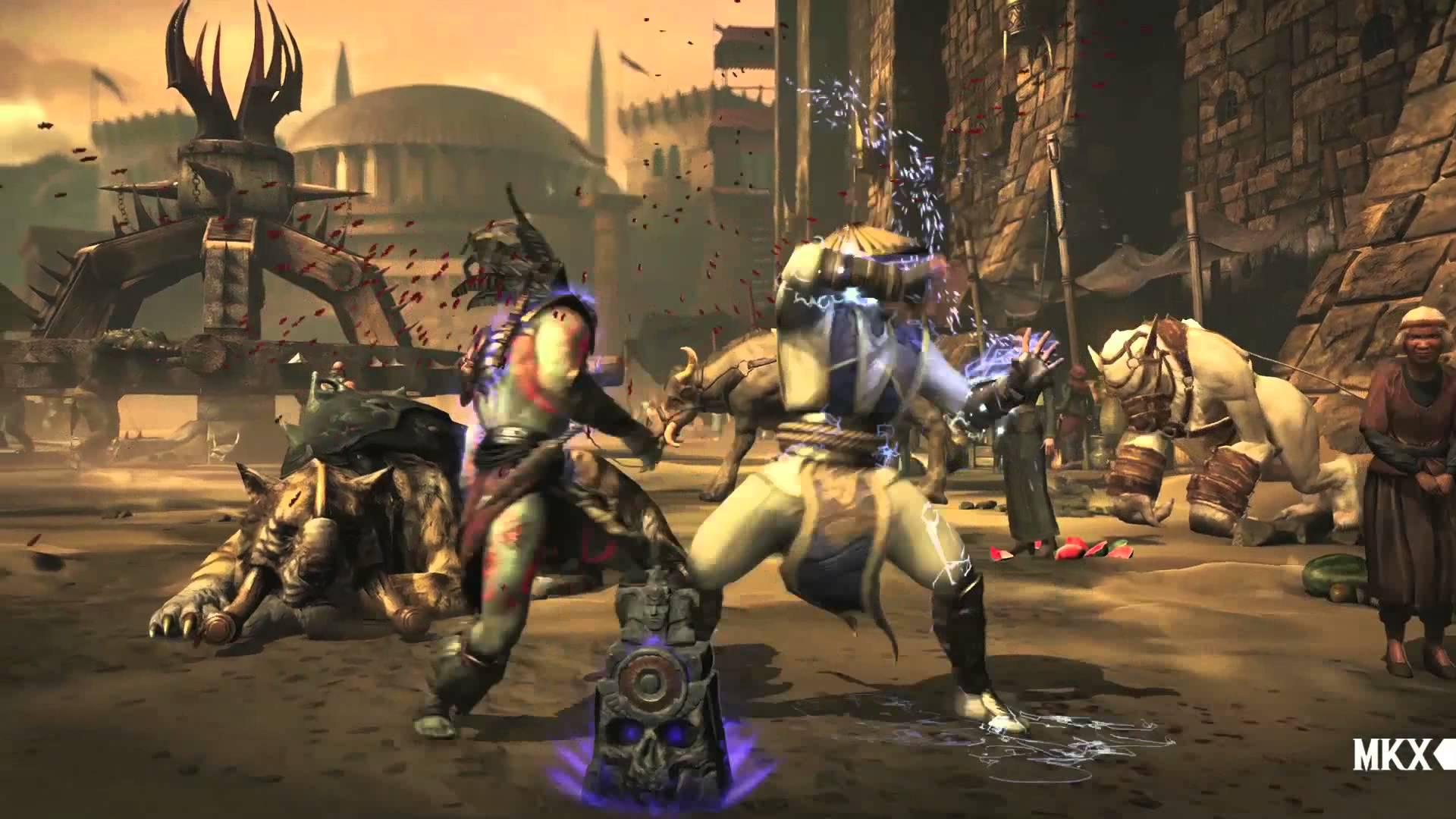 Gameplay ce îl prezintă pe Raiden din Mortal Kombat X