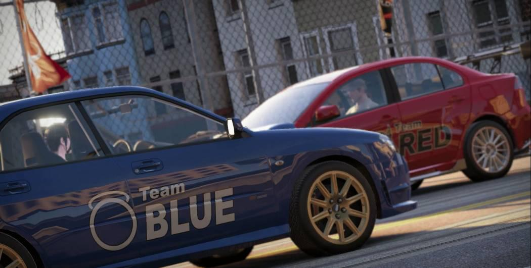 Gameplay cu Mitsubishi Lancer vs. Subaru Impreza pentru World of Speed