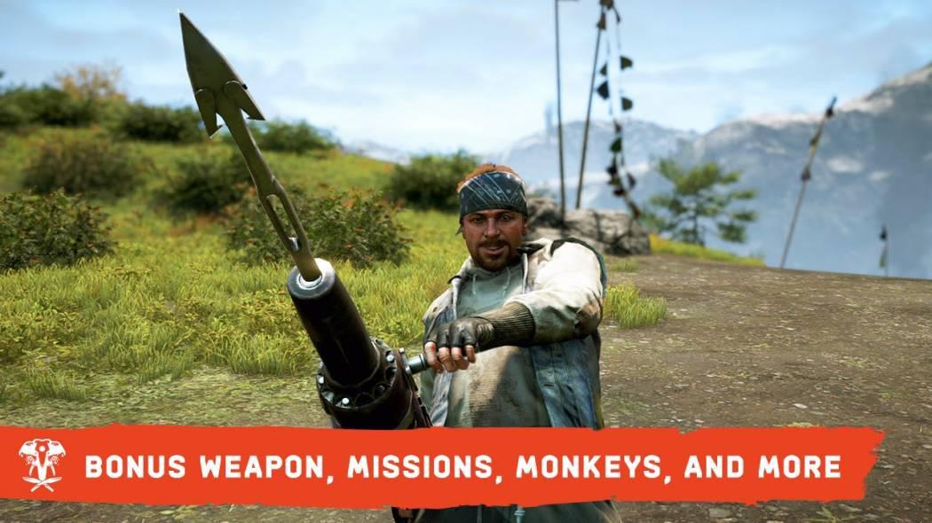 Trailer ce prezintă arma bonus, misiunile și maimuțele din Far Cry 4