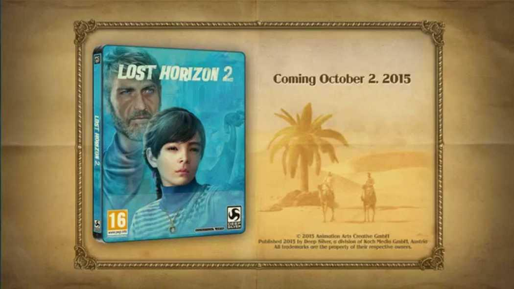 Lost Horizon 2 a primit trailer la GamesCom 2015