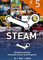 Steam Wallet Code 5 EURO Box Art Coperta