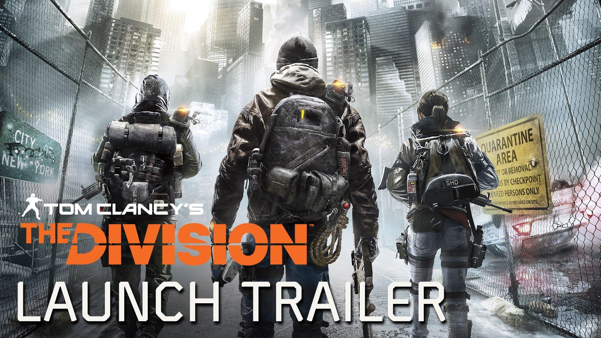 Trailerul de lansare pentru Tom Clancy's The Division a fost publicat