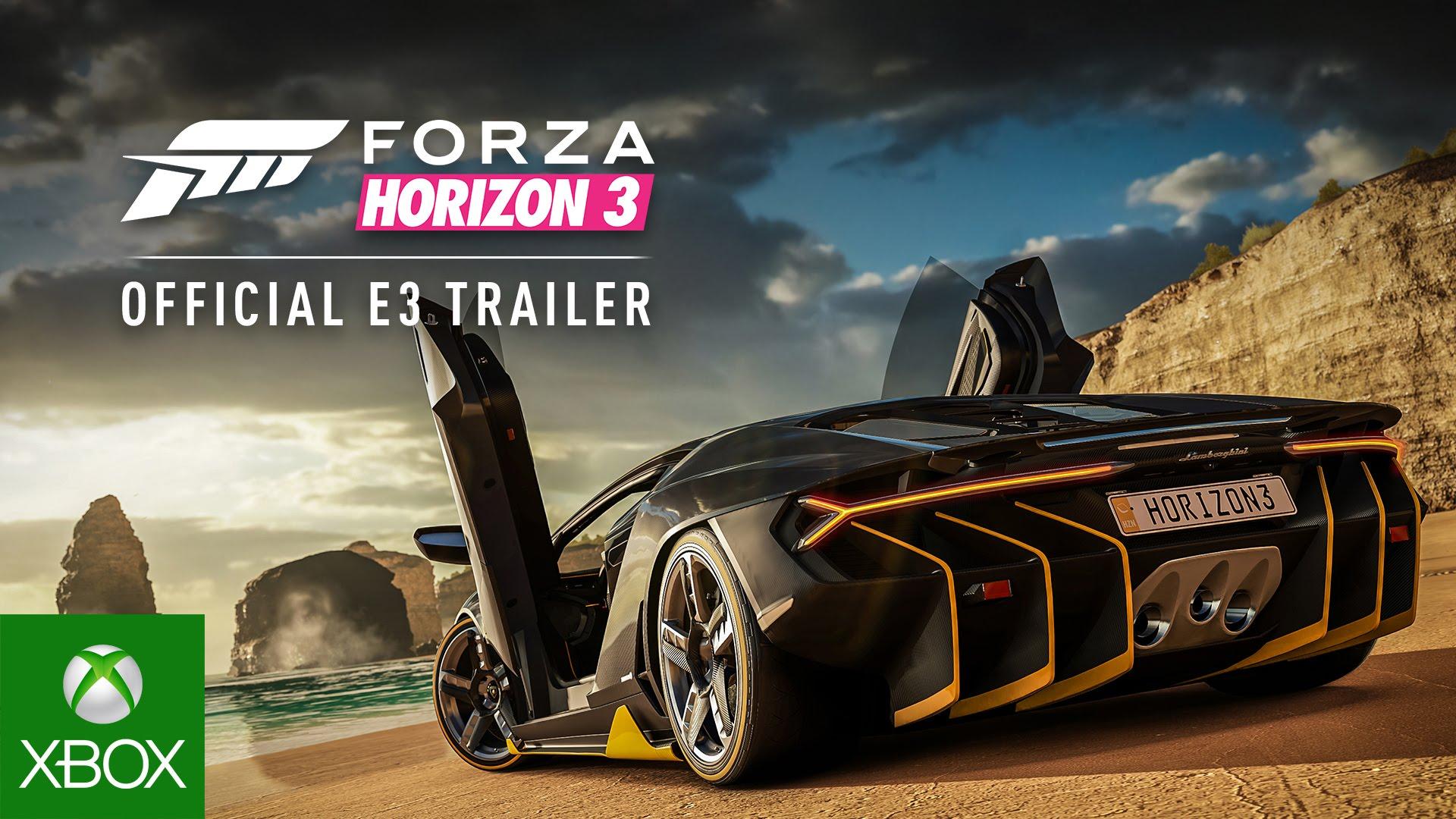 Forza Horizon 3 dezvăluit oficial la E3 2016
