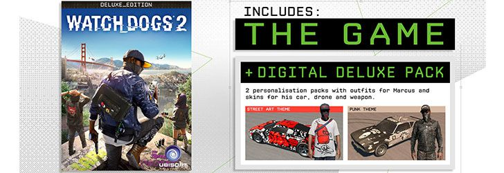 Continut Watch Dogs 2 Deluxe Edition