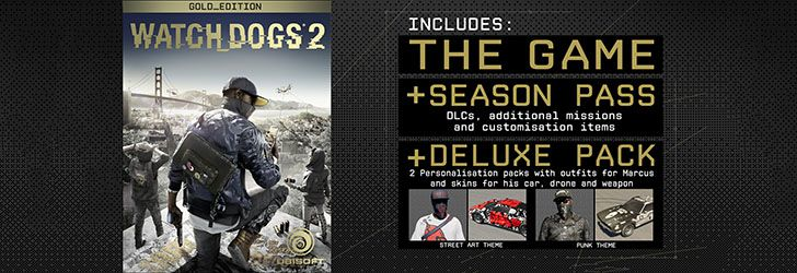 Continut Watch Dogs 2 Gold Edition