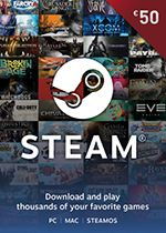 Steam Wallet Code 50 EURO Box Art Coperta