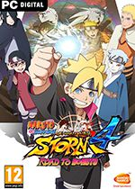 Naruto Shippuden Ultimate Ninja Storm 4 Road to Boruto Expansion PC Box Art Coperta