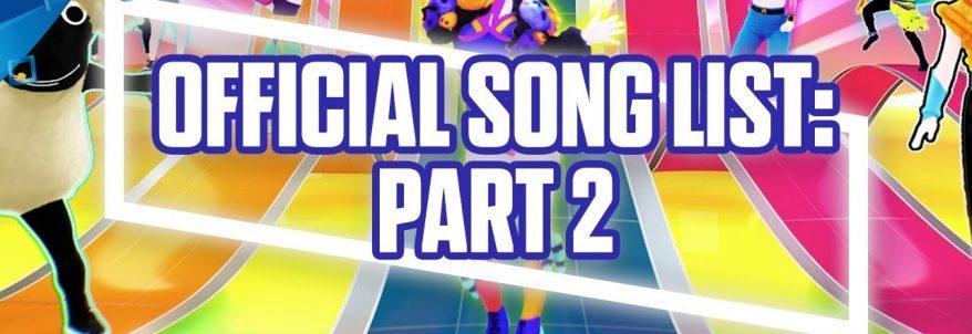 Just Dance 2018 - Gamescom 2017 Song List